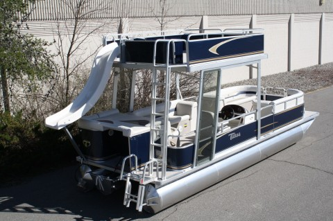 2014 Tahoe Grand Island 24 Pontoon boat with slide for sale