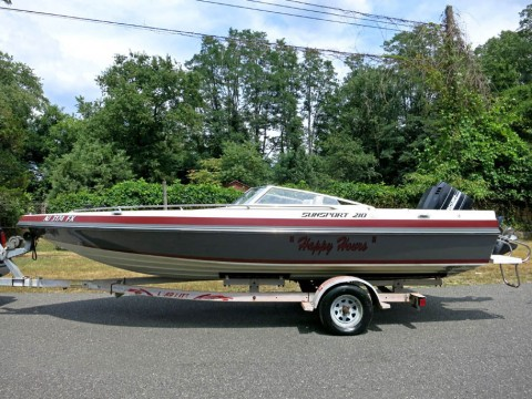1988 Baja Sunsport 21ft Bass Boat for sale